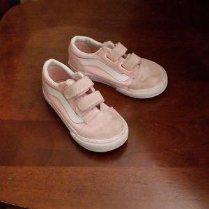Toddler old skool pink Vans